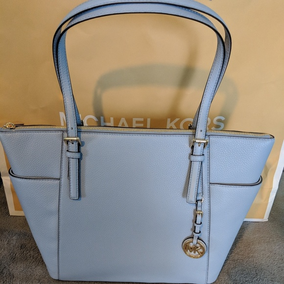 27be385234a6 Baby Blue Michael Kors Jet Set Tote. Listing Price: $150.00